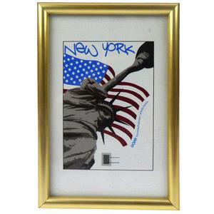New York Gold Photo Frame - A4