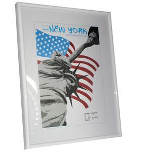 New York White Photo Frame - 24x30cm