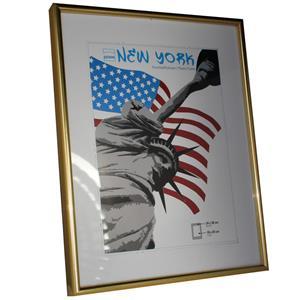 New York Gold Photo Frame - 24x30cm