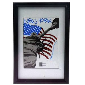 New York Black Photo Frame - 10x8inch
