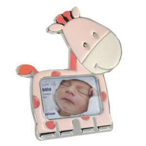 Silverstar Pink Giraffe Metal 3x2 Photo Frame