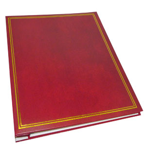 Dorr Classic Self Adhesive Refillable Burgundy Photo Album - 40 Sides Overall Size 13.25x10.5inch
