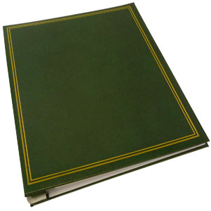 Dorr Classic Self Adhesive Refillable Green Photo Album - 40 Sides Overall Size 13.25x10.5inch