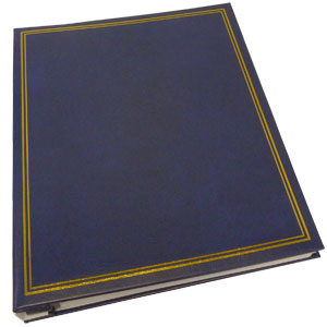 Dorr Classic Self Adhesive Refillable Blue Photo Album - 40 Sides Overall Size 13.25x10.5inch