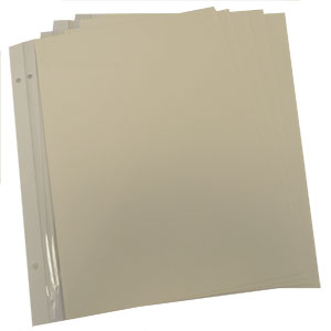 Dorr Refill Sheets for Classic Self Adhesive Photo Album - Pack of 5 - Page Size 13x9inch
