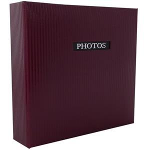 Elegance Red Traditional Photo Album - 60 Sides Overall Size 9.75