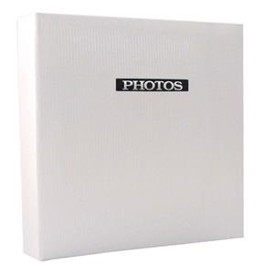 Elegance White Traditional Photo Album - 60 Sides Overall Size 9.75