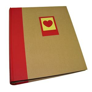Green Earth Red Heart Traditional Photo Album - 100 Sides