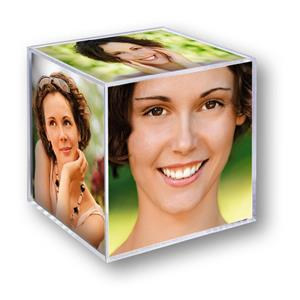 Acrylic Photo Cube for 6 Photographs