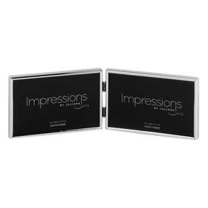 Impressions 6x4 inch Double Landscape Silver Plated Photo Frame