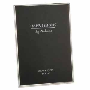 Impressions Thin Silver Plated 10x7 Inch Photo Frame