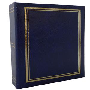 Classic Blue 6x4 Slip In Photo Album - 200 Photos Overall Size 8.5