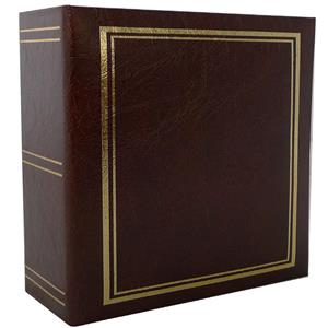 Classic Brown 6x4 Slip In Photo Album - 200 Photos Overall Size 8.5