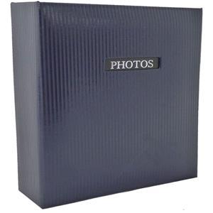 Elegance Blue 6x4 Slip In Photo Album - 200 Photos Overall Size 8.75x9