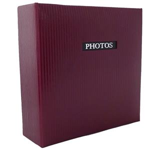 Elegance Red 6x4 Slip In Photo Album - 200 Photos Overall Size 8.75x9