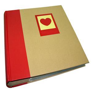 Green Earth Red Heart 7x5 Slip In Photo Album - 200 Photos