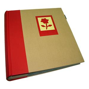 Green Earth Red Flower 7x5 Slip In Photo Album - 200 Photos