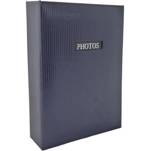 Elegance Blue 6x4 Slip In Photo Album - 300 Photos Overall Size 13x9