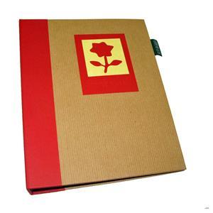 Green Earth Red Flower Mini 7x5 Slip In Photo Album - 36 Photos
