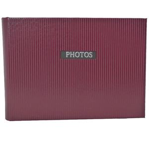 Elegance Red 7x5 Slip In Photo Album - 36 Photos Overall Size 8.5x6