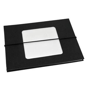Leporello Black 8x6 Slip In Photo Album - 24 Photos