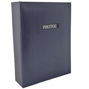 Elegance Blue 6x4 Slip In Photo Album - 100 Photos Overall Size 6.5x5