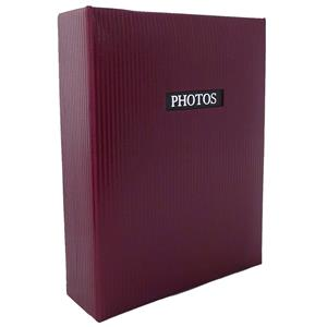 Elegance Red 6x4 Slip In Photo Album - 100 Photos Overall Size 6.5x5
