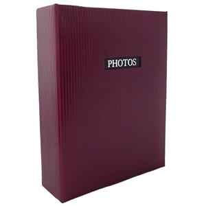 Elegance Red 7x5 Slip In Photo Album - 100 Photos Overall Size 7.5x6