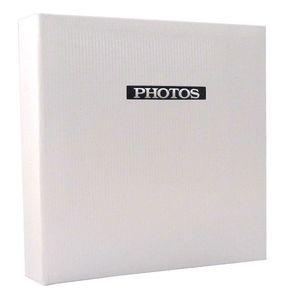 Elegance White 7x5 Slip In Photo Album - 100 Photos Overall Size 7.5x6