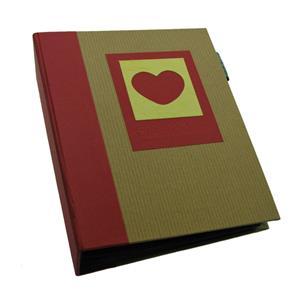 Green Earth Red Heart Mini Max 6x4 Slip In Photo Album - 120 Photos