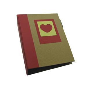 Green Earth Red Heart Mini Max 7x5 Slip In Photo Album - 120 Photos