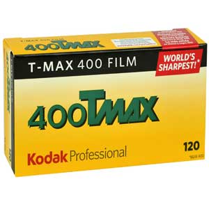 Kodak Professional Tmax ISO 400 120 Black and White Negative Roll Film - 5 Pack