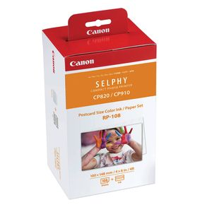 Canon RP-108 Colour Ink and Paper Set for Selphy CP910