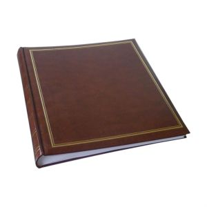 Classic Large Brown Traditional Photo Album - 100 Sides