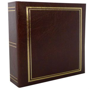 Classic Burgundy 6x4 Slip In Photo Album - 200 Photos Overall Size 8.5