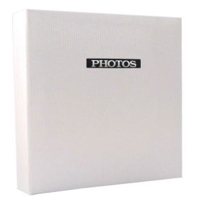 Elegance White Traditional Photo Album - 50 Sides Overall Size 11.5x12.5