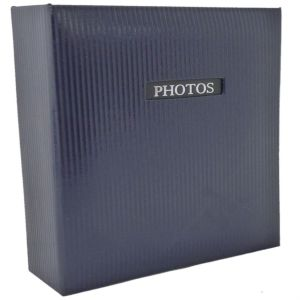 Elegance Blue Traditional Photo Album - 50 Sides Overall Size 11.5x12.5