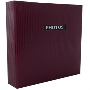 Elegance Red Traditional Photo Album - 50 Sides Overall Size 11.5x12.5
