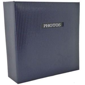 Elegance Blue 7x5 Slip In Photo Album - 200 Photos