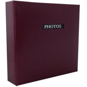 Elegance Red 7x5 Slip In Photo Album - 200 Photos