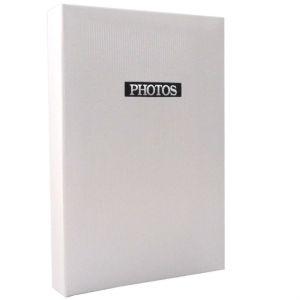 Elegance White 6x4 Slip In Photo Album - 300 Photos Overall Size 13x9