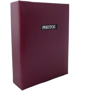 Elegance Red 6x4 Slip In Photo Album - 300 Photos Overall Size 13x9