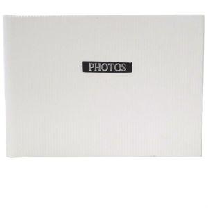 Elegance White 6x4 Slip In Photo Album - 36 Photos Overall Size 7x4.5