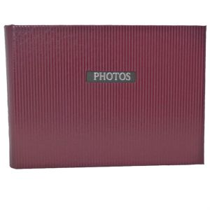 Elegance Red 6x4 Slip In Photo Album - 36 Photos Overall Size 7x4.5