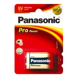Panasonic Pro Power 9V 6LR61 Alkaline Block Battery