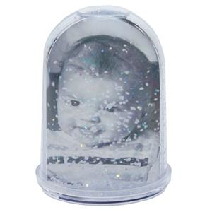 Tall Photo Snow Globe | 10 x 7 cm | Snow Glitter | Add 2 Photos
