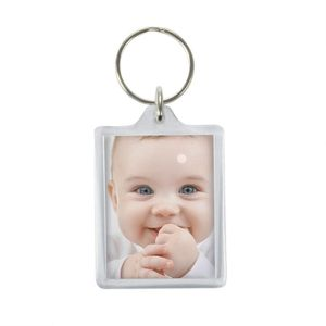 Blank Photo Keyring | Photo Keychain | 3.5 x 4.6 cm | Add Your Own Photo