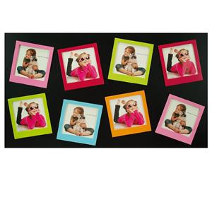Teulada Multi Aperture Black Photo Frame for 8 4x4 Photos