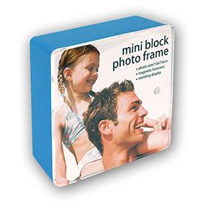 Blue Mini Block Photo Frame