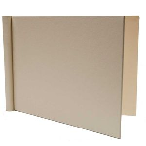 Permajet A4 Cream Leather Look Landscape Snapshut Folio - 15mm Spine